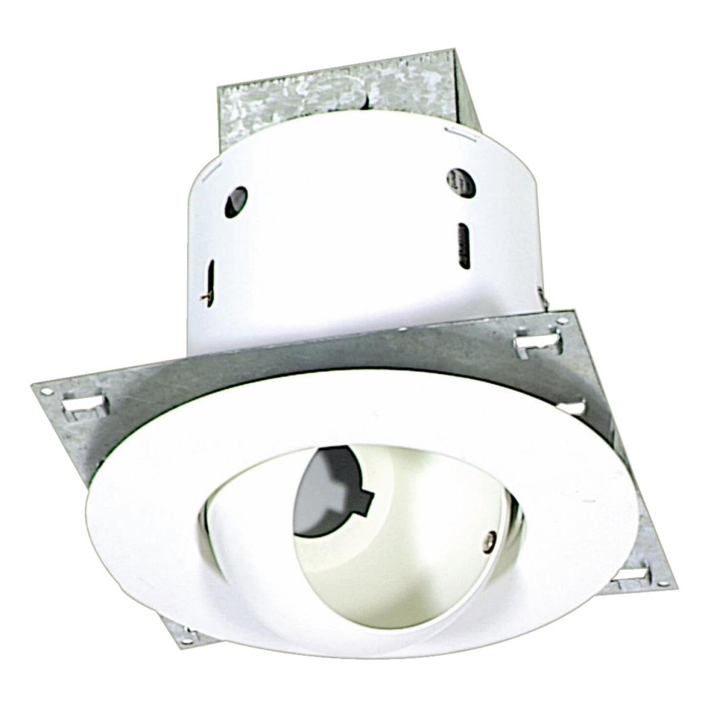 Thomas 5 In. New Construction/Remodel Non-IC Rated White Eyeball Recessed Light Kit Image 1