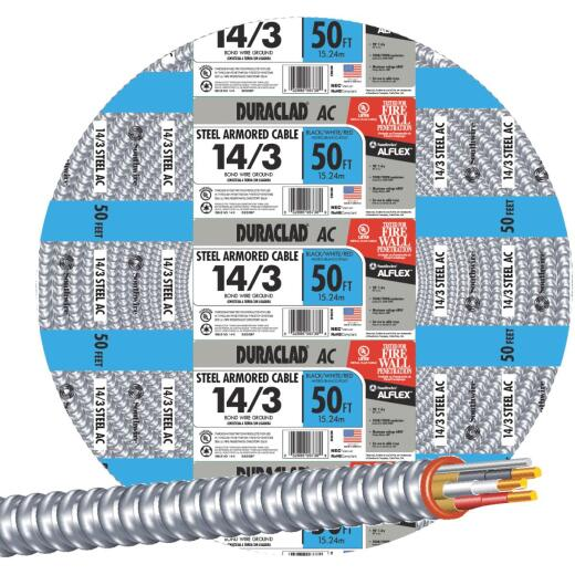 Southwire 50 Ft. 14/3 AC Armored Cable