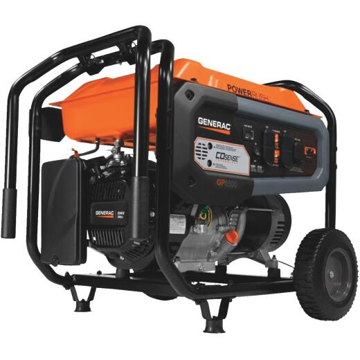 Generac 6500W Gasoline Powered Portable Generator (California Compliant)