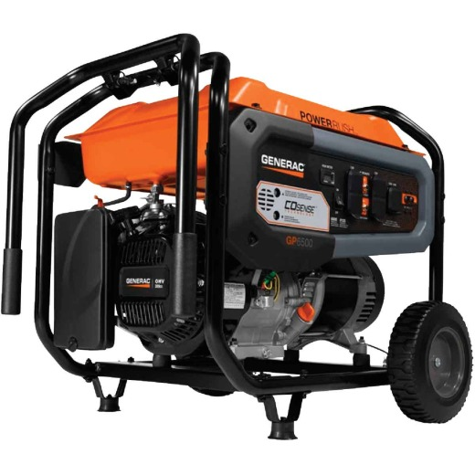 Generac 6500W Gasoline Powered Recoil Pull Start Portable Generator California Compliant
