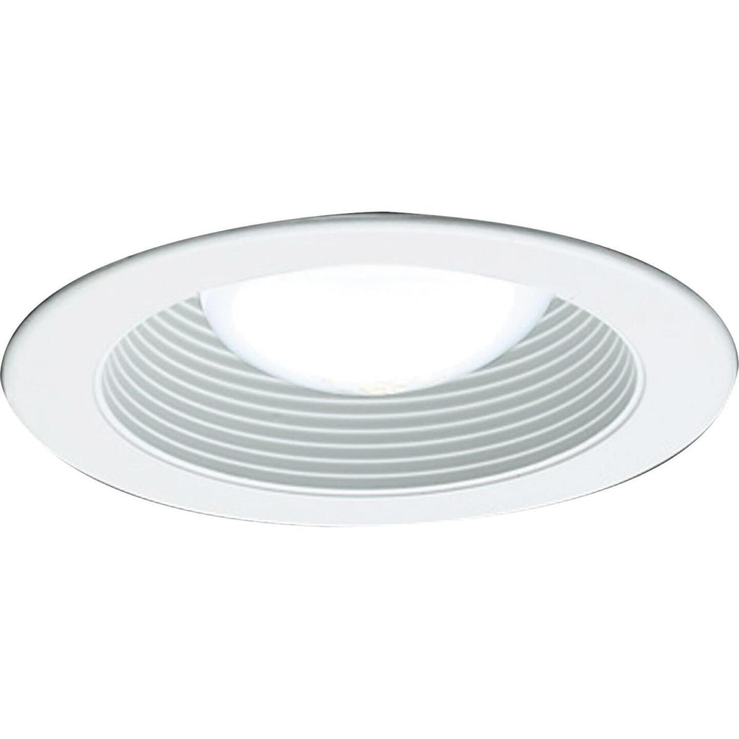 Thomas 4 In. White Trim w/White Baffle Recessed Fixture Trim Image 1