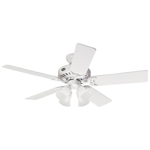 Hunter Studio 52 In. White Ceiling Fan with Light Kit