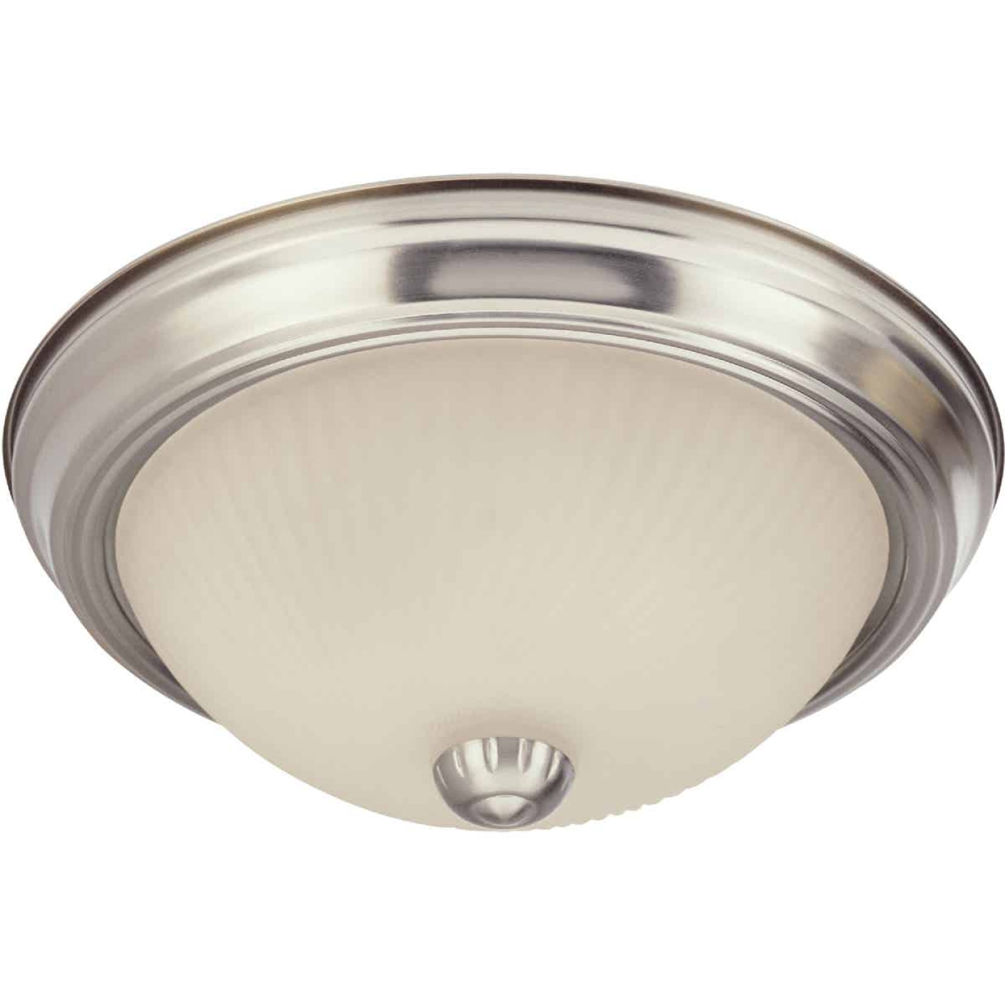 Home Impressions 11 In. Brushed Nickel Incandescent Flush Mount Ceiling Light Fixture Image 1