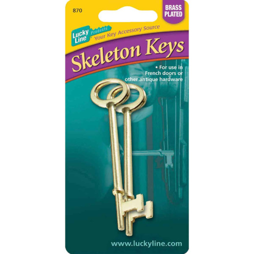 Lucky Line Zinc Skeleton Key, (2-Pack)
