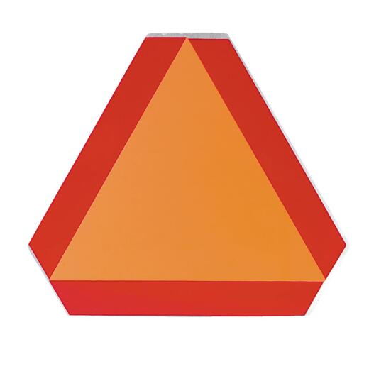 Safety Vehicle Emblem 16 In. x 14 In. Slow Moving Vehicle Emblem, Aluminum Sign