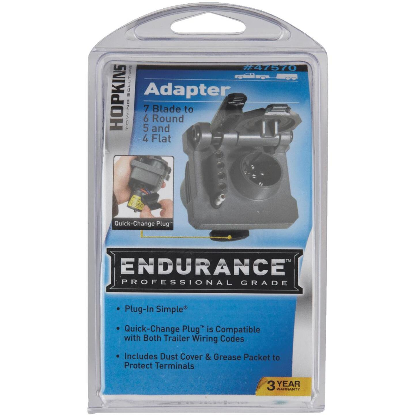 Hopkins Endurance Multi-Tow 7-Blade to 6, 5, & 4-Plug-In Adapter Image 2