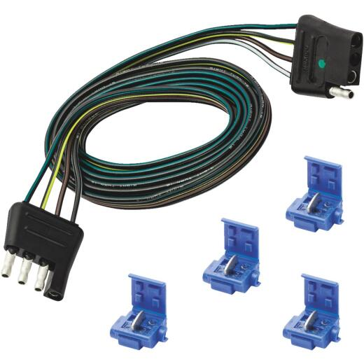 Reese Towpower 4-Flat Loop 48 In. Vehicle/12 In. Trailer Connector Set with Splice Connectors