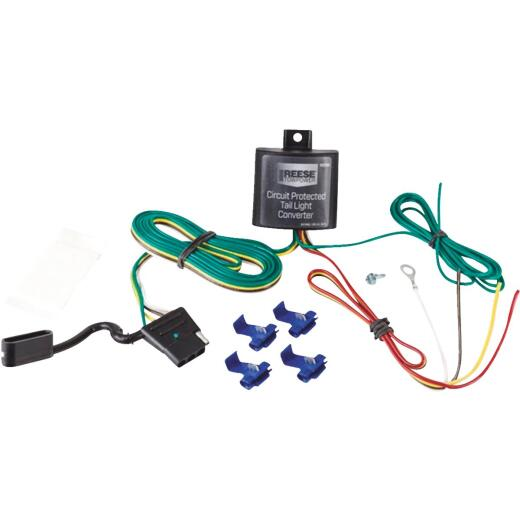 Reese Towpower 2.1A 72 In. Vehicle Taillight Converter with 4-Wire Flat Extension