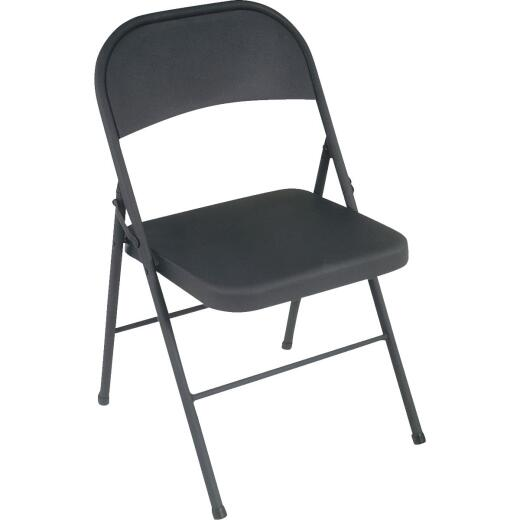 COSCO All Steel Folding Chair, Black