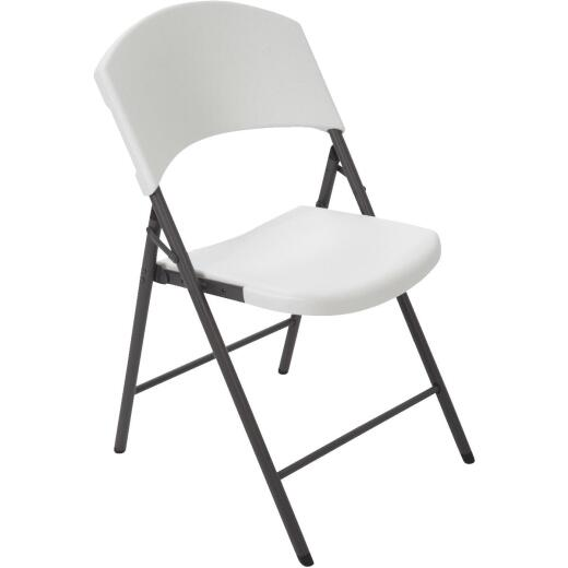 Lifetime White Granite Light Commercial Folding Chair