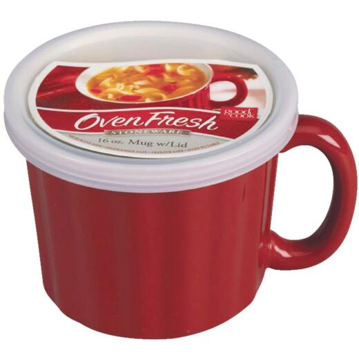 Good Cook 18 Oz. Red Soup Crock