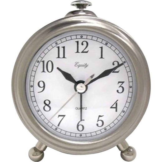 La Crosse Technology Equity Brushed Metal Battery Operated Alarm Clock