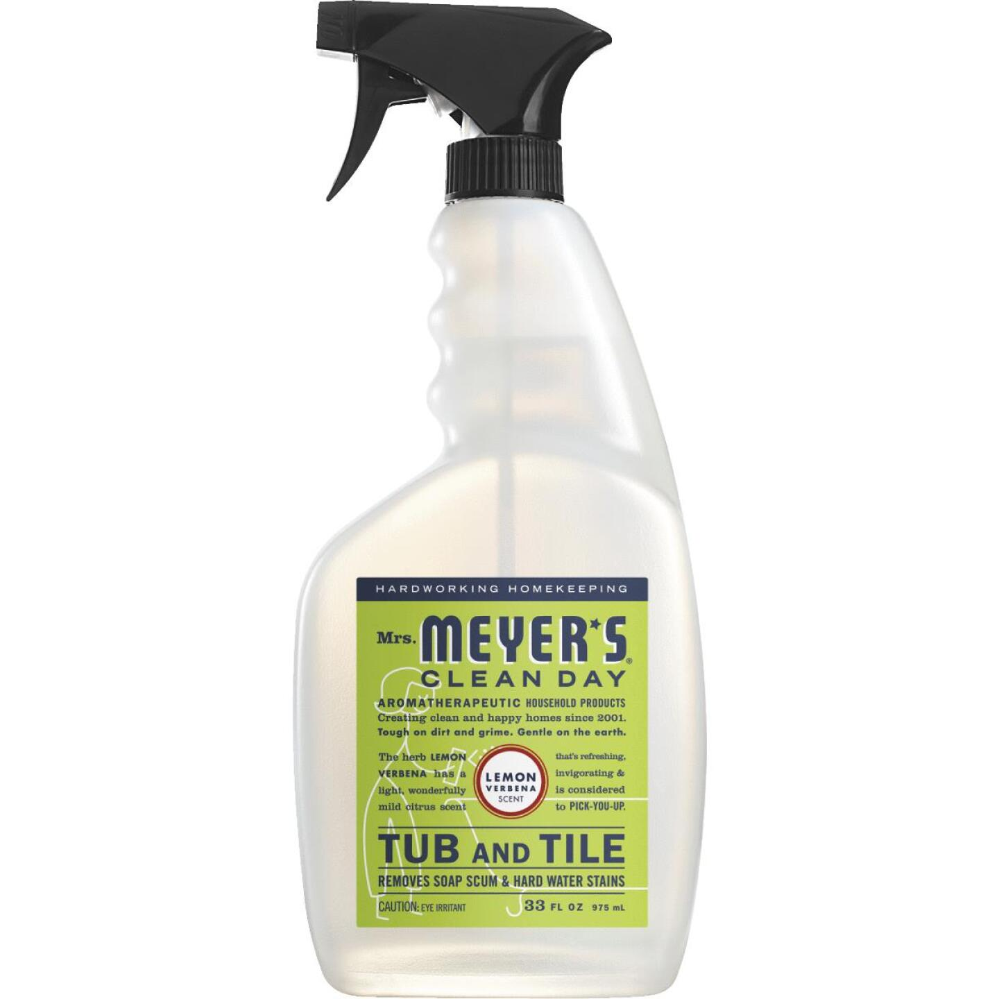 Mrs. Meyer's Clean Day 33 Oz. Lemon Verbena Tub & Tile Bathroom Cleaner Image 1