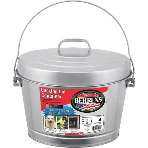 Behrens 4 Gal. Galvanized Steel Pail with Lid