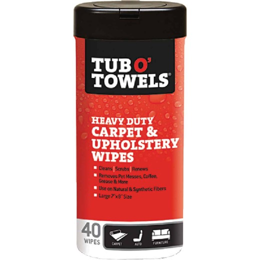 Tub O' Towels Carpet/Upholstery Scrubbing Wipes (40 Count)