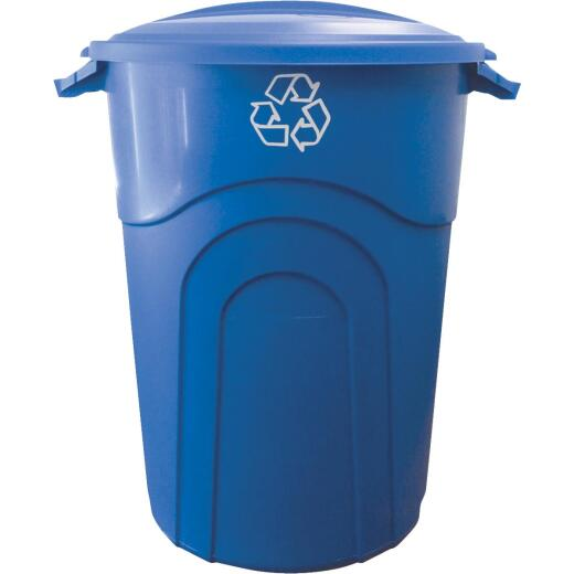 United Solutions 32 Gal. Recycling Trash Can with Lid