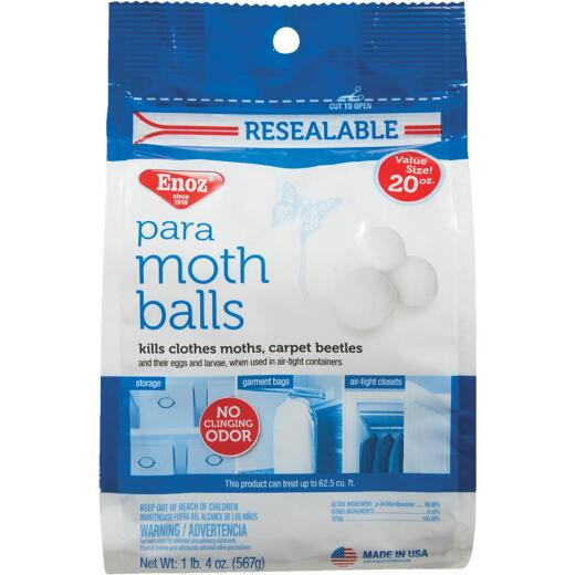 Enoz 20 Oz. Para Moth Balls in Reusable Bag