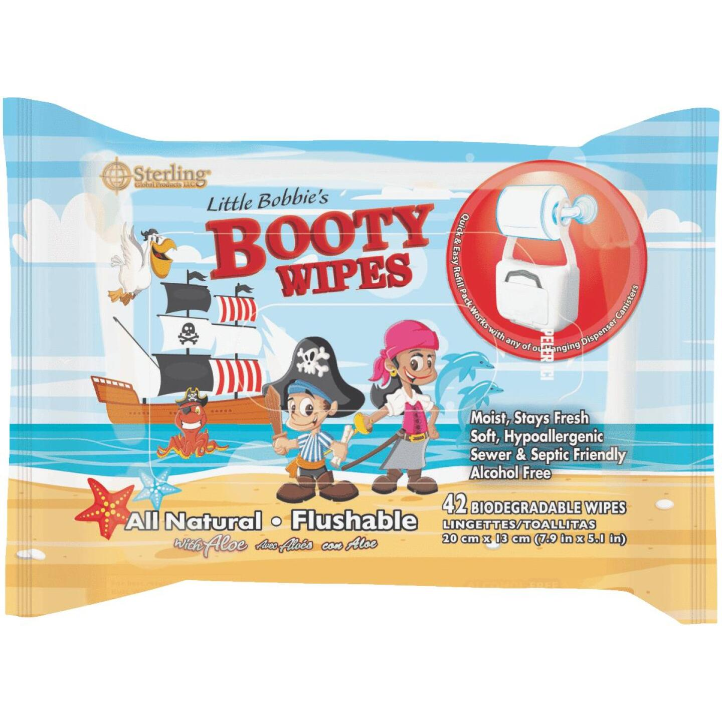 Sterling Little Bobby's Booty Wipes (42-Count) Image 1