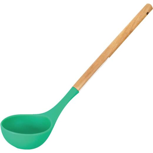 GraniteWare 12.5 In. Silicone Ladle with Wood Handle