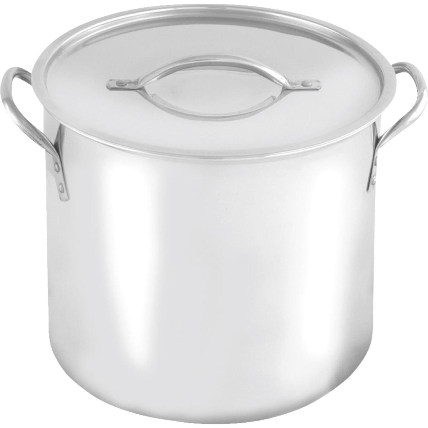 McSunley 16 Qt. Polished Stainless Steel Stockpot Image 1