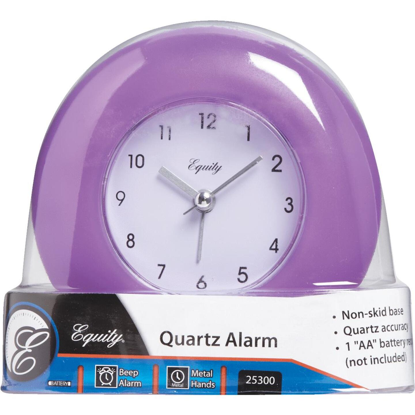 La Crosse Technology Equity Frosted Analog Battery Operated Alarm Clock Image 3