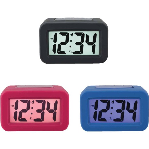 La Crosse Technology Silicon LCD Battery Operated Alarm Clock