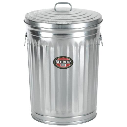 Behrens 20 Gal. Silver Trash Can with Lid