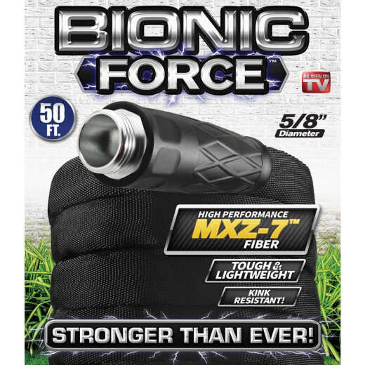 Bionic Force 5/8 In. Dia. X 50 Ft. L. Garden Hose with Aluminum Fittings