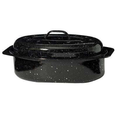 GraniteWare 8 In. x 13 In. Covered Oval Roaster Pan