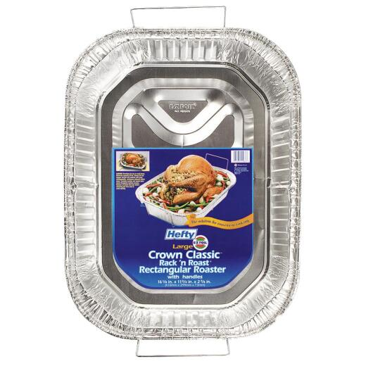 EZ Foil Rack 'N' Roast Roaster Pan with Handles