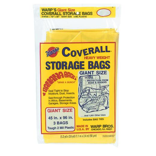 Warp's Coverall 45 In. x 96 In. Heavyweight Storage Bag (3 Count)