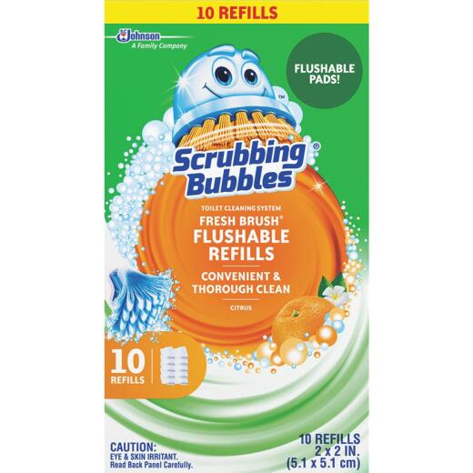 Scrubbing Bubbles Fresh Brush Toilet Wand Refill (10-Count)