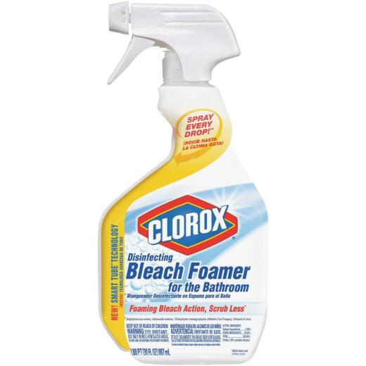 Clorox 30 Oz. Disinfecting Bleach Foamer Bathroom Cleaner