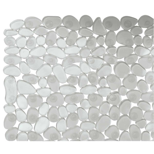 InterDesign Pebblz 13.75 In. x 26.50 In. Clear Bath Mat