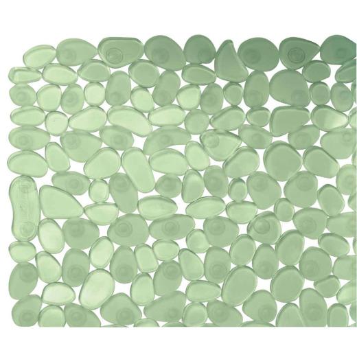 InterDesign Pebblz 13.75 In. x 26.50 In. Green Bath Mat