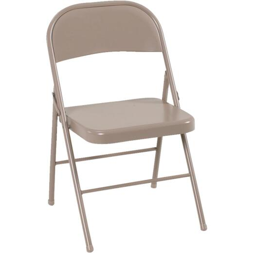 COSCO All Steel Folding Chair, Beige