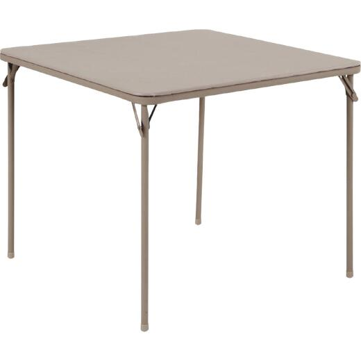 COSCO 34 In. x 34 In. Folding Table, Sand