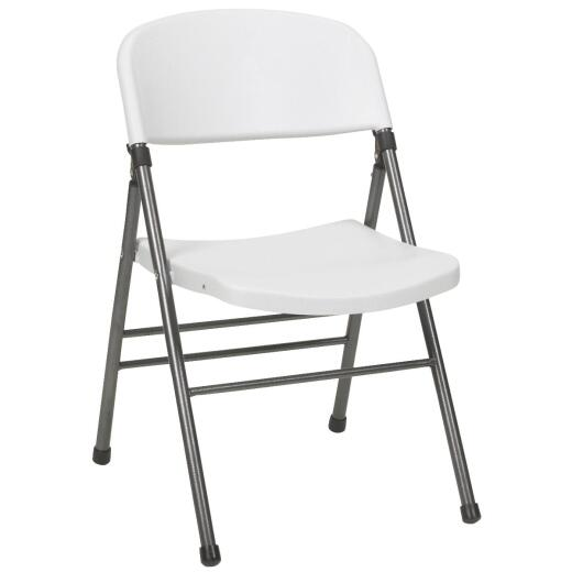 COSCO Endura White Resin Folding Chair