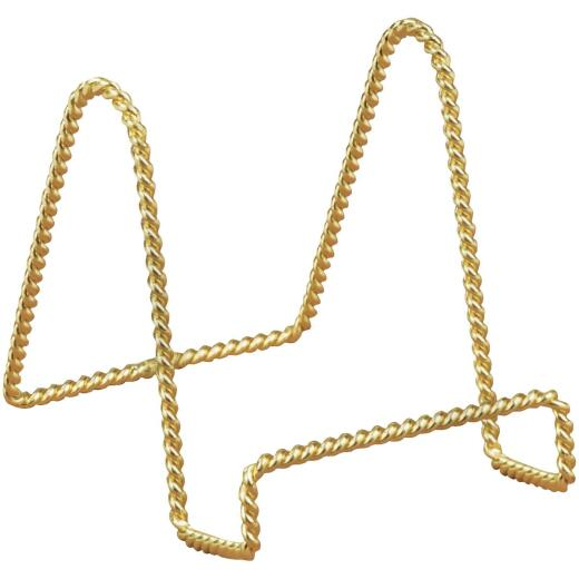 Tripar 3 In. Brass Twisted Wire Plate Stand