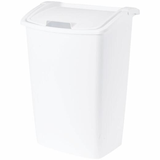 Rubbermaid 42 Qt. White Wastebasket with Lid