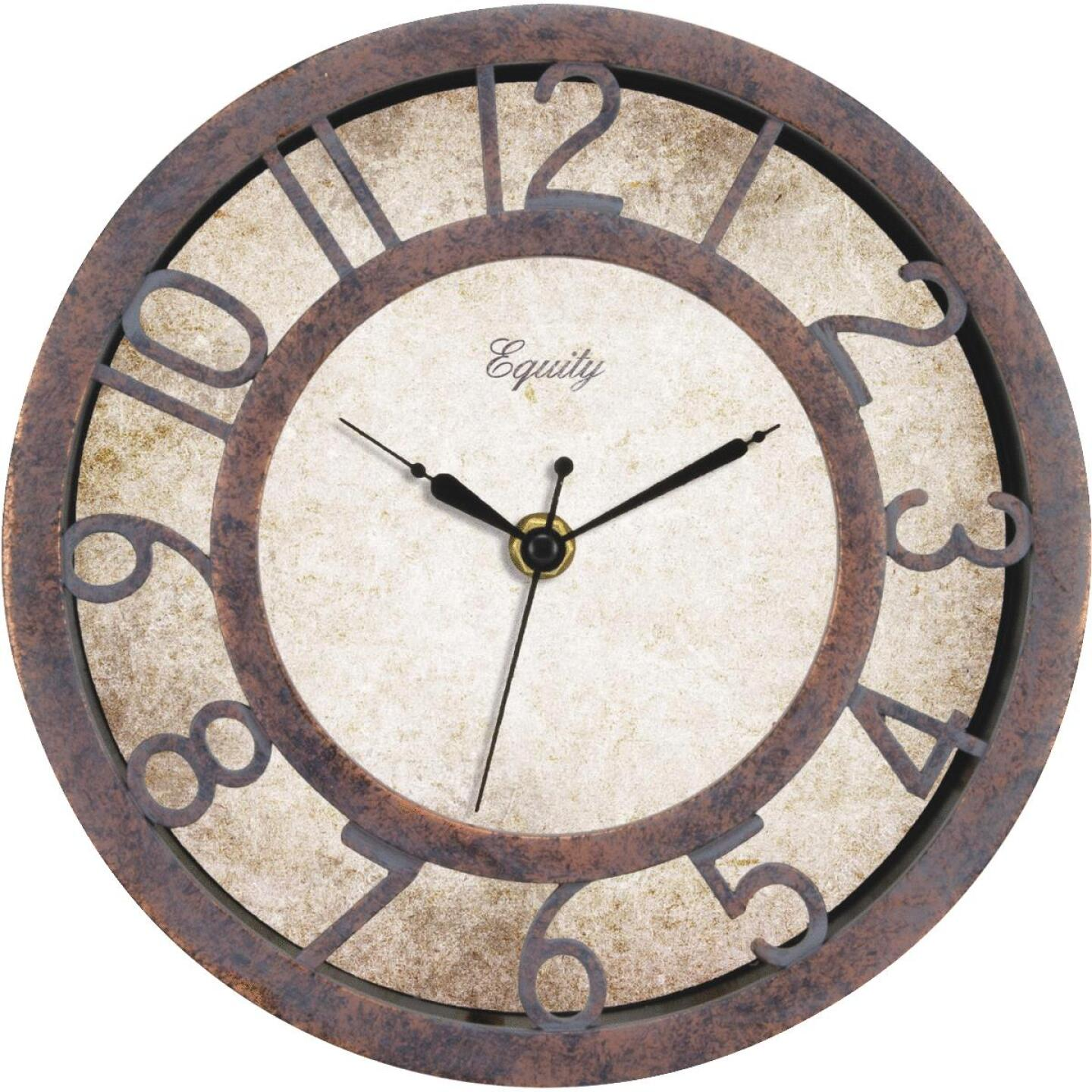 La Crosse Technology Equity Antique Finish Plastic Wall Clock Image 1