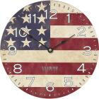 La Crosse Technology USA Flag Wall Clock Image 1