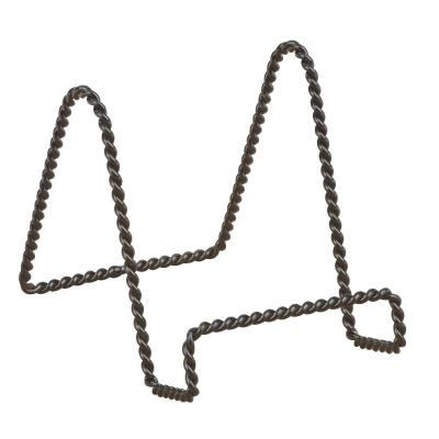 Tripar 3 In. H. Black Twisted Wire Plate Stand