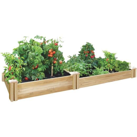 Greenes Fence 8 Ft. W. x 7 In. H. x 4 Ft. L. Stair Step Cedar Raised Garden System