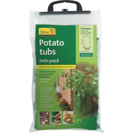 Gardman 20 In. H. x 16 In. D. Potato Grow Tub Garden System (2-Pack)
