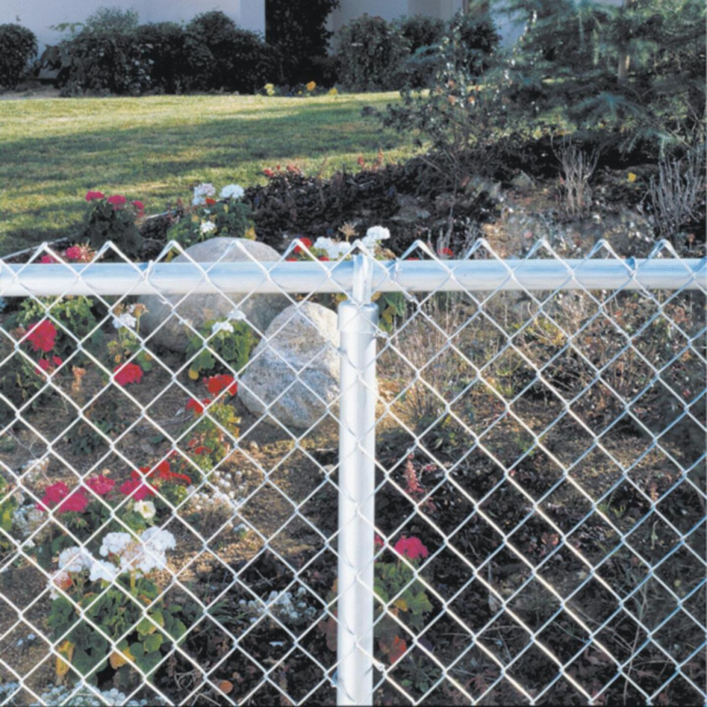 Midwest Air Tech 10 ft. 6 in. L x 1-3/8 in. I.D. 18 Ga. Steel Chain Link Fence Top Rail Image 2