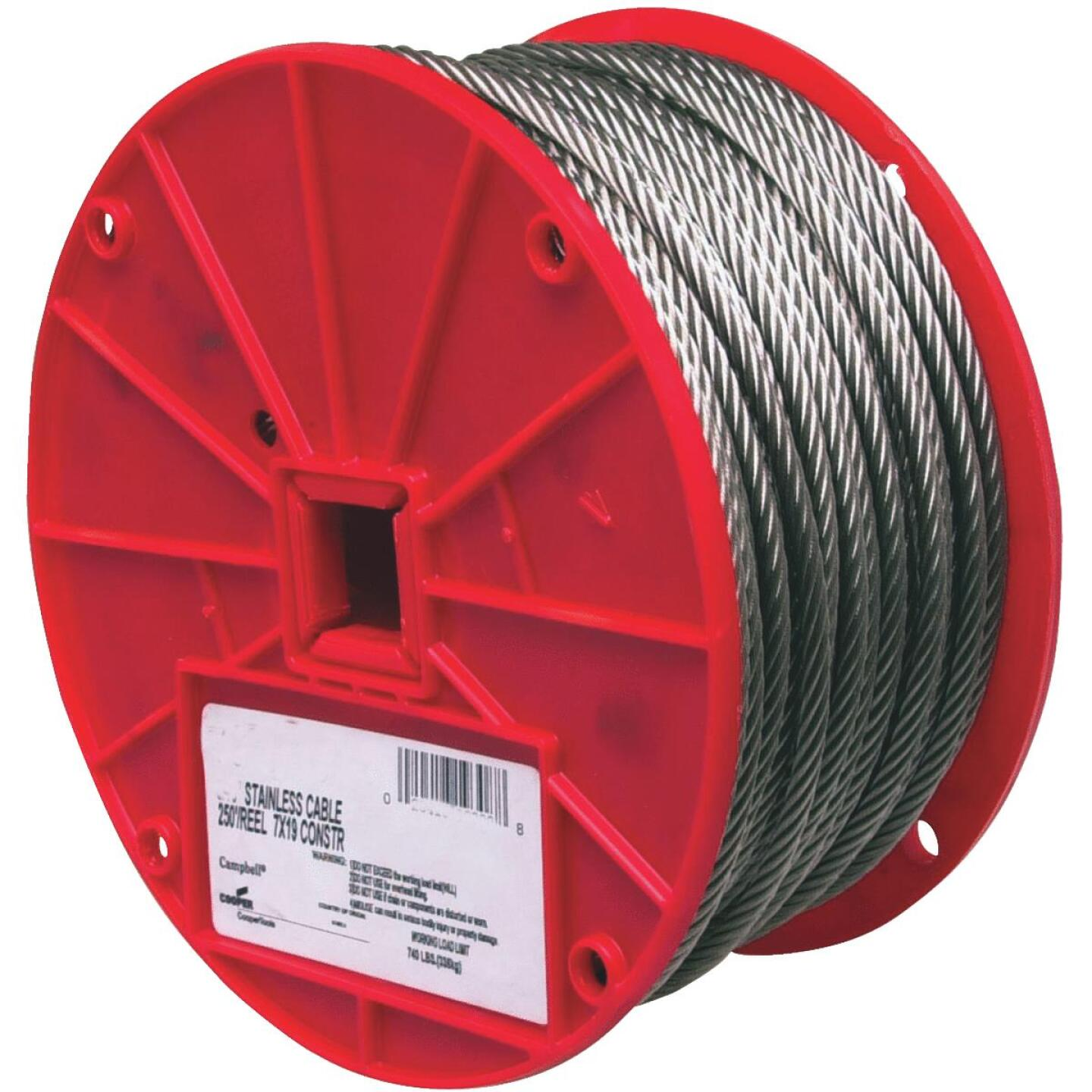Campbell 5/16 In. x 200 Ft. Stainless Steel Wire Cable Image 1