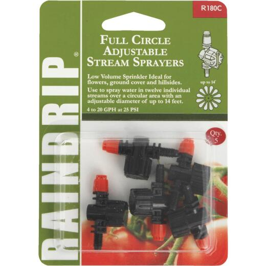Raindrip Full Circle Adjustable Sprayer (5-Pack)
