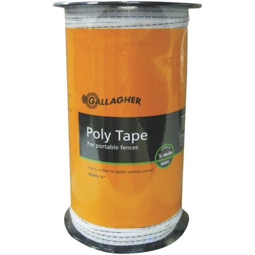 Gallagher 1/2 In. x 656 Ft. Polyethylene Electric Fence Poly Tape