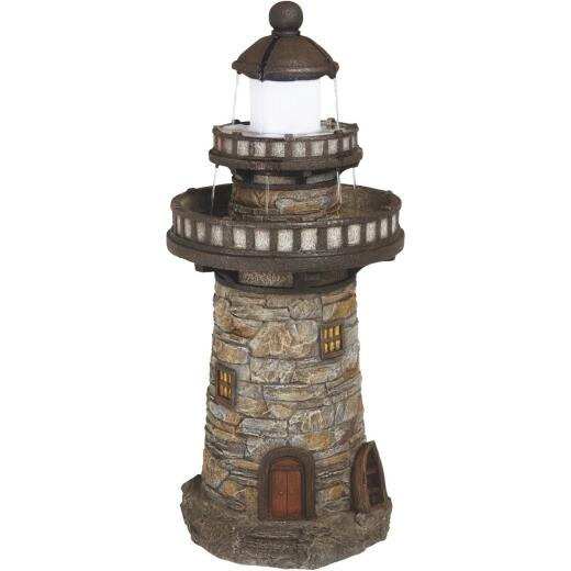 Best Garden 17 In. W. x 37 In. H. x 17 In. L. Resin Lighthouse Fountain